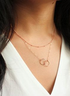 Layering Necklace Layered necklace Infinity