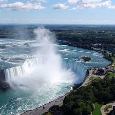 The view of Niagara Falls from Skylon