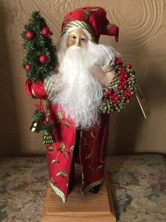 Lynn Haney Santa Claus Christmas Figure. Yuletide Holly.