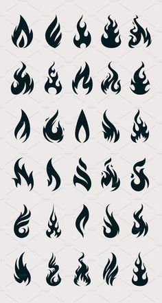 --- Vector Fire Icons is the set of 30 unique fire shapes to let you light up your design. All shapes are vector and fully editable in Adobe Illustrator. Flame Tattoos, Mini Tattoos, Cute Tattoos, Tattoos For Guys, Tatoos, Kritzelei Tattoo, Doodle Tattoo, Tatouage Divergent, Art Drawings Sketches