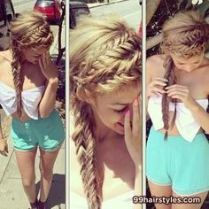 beautiful braided summer hairstyle idea - Hairstyle Ideas
