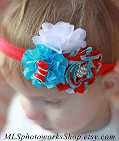 The Cat in the Hat Birthday Girl Headband  by MLSPhotoWorksShop, $7.25
