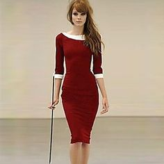 [NewYearSale]XinYuanGe® Women's Turn Down Collar Seven Point Sleeve Loose Dress - USD $ 16.99