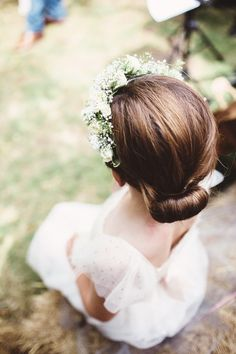 Wedding flower girl in a rustic wedding at Folly Farm - a beautiful countryside reserve close to Bath & Bristol, UK | Photo by Liron Erel Echoes & Wild Hearts