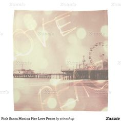 Pink Santa Monica Pier Love Peace Bandana #sold on #zazzle