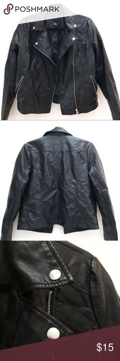 Forever 21 Faux Leather Jacket - Size M 100% polyurethane fake leather jacket from Forever 21. Rarely worn, in perfect condition. Forever 21 Jackets & Coats