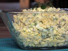 Sałatka jajeczna z ananasem i słonecznikiem Appetizer Salads, Appetizers, Banoffee Pie, Polish Recipes, Polish Food, Food Allergies, Oatmeal, Food And Drink, Vegetables