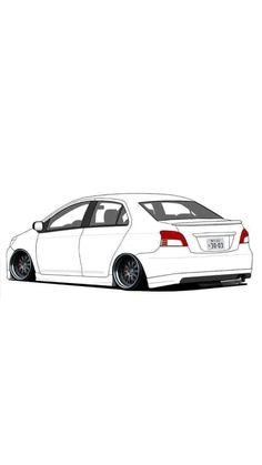 Toyota Corolla, Corolla Twincam, Toyota Vios Modified, Modified Cars, Carros Toyota, Street Racing Cars, Rims For Cars, Honda Cars, Car Illustration