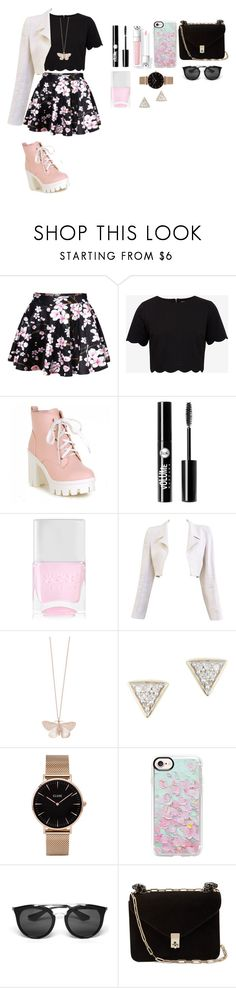 """casual"" by cira-scuro on Polyvore featuring moda, WithChic, Ted Baker, Charlotte Russe, Nails Inc., Chanel, Alex Monroe, Adina Reyter, CLUSE y Casetify"
