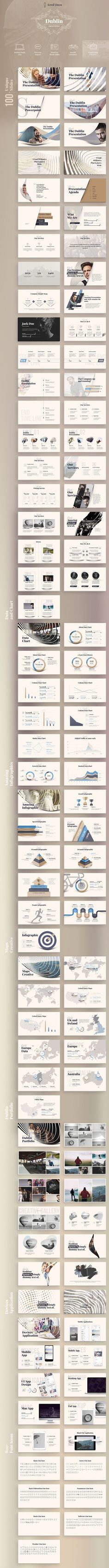 Dublin Powerpoint Presentation by layout design on Web Design, Slide Design, Layout Design, Creative Design, Mises En Page Design Graphique, Art Graphique, Keynote Design, Brochure Design, Design Presentation