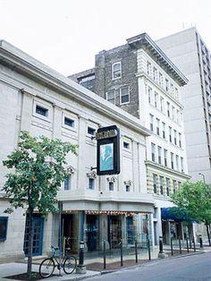 Fitzgerald Theater (home to A Prairie Home Companion) in down town Saint Paul, MN
