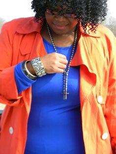 A New Day: Inspiration: Tales of a Cobalt Blue BodyCon (Dress Review) www.prettypluspep.blogspot.com