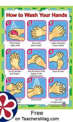 It is always necessary to teach children how to wash their hands. It is especially relevant right now as many people express concern about the Coronavirus, Kindergarten Posters, Classroom Posters, Preschool Learning, Teaching Kids, Wash Hands Printable, Hygiene Lessons, School Nurse Office, Hand Washing Poster, Young Children