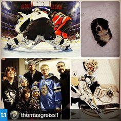 "Repost @thomasgreiss1: ""Enjoyed the season. Time to head back home.  #penguins #vaughn #nhl #steelcityicebergs #dextersadventures"""