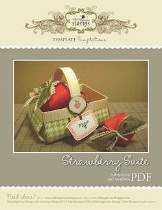 Waltzingmouse Makes...: ...Freebie - Strawberry Suite Templates and cut files