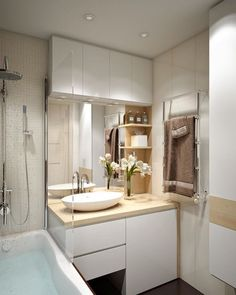 Ideas Bathroom Sink Vanity Small Towel Racks For 2019 House Bathroom, Bathroom Interior, Bathroom Makeover, Small Bathroom, Bathroom Decor, Trendy Bathroom, New Bathroom Ideas, Bathroom Design Small, Wood Bathroom