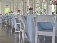 Light Blue & White Wedding, with pink accent flowers!! So Pretty!
