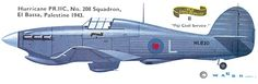 Hurricane PR.Mk.IIc/Trop Fiji Civil Service Unit: 208 Sqn, RAF Serial: L (HL830) El Bassa, Palestine, 1943.