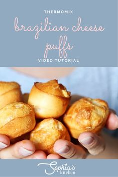 This has got to be one of the tastiest snacks you can prepare and such an easy Thermomix recipe. I make Brazilian cheese puffs all the time and find new vari. Savory Snacks, Yummy Snacks, Brazillian Cheese Puffs, Cooking Recipes, Cooking Ideas, Bread Recipes, Food Ideas, Easy Spanish Recipes, Thermomix Bread