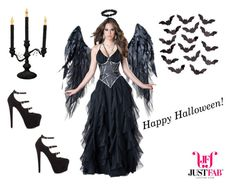 """""""Happy Halloween!"""" by madforfashion78 ❤ liked on Polyvore featuring Incharacter Costumes, JustFabulous and Sylvania"""