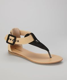 Take a look at this Black Steno-73 Sandal by Bamboo on #zulily today!