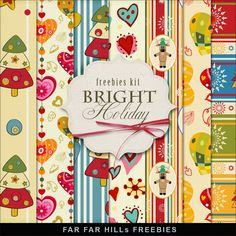 FREE Freebies Kit of Papers - Bright Holiday By Far Far Hill