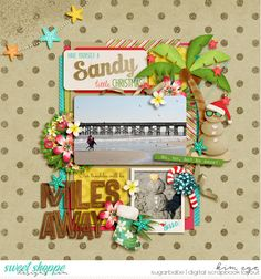 Digital Scrapbook Layout using Mele Kalikimaka by Brook Magee, Grace Lee and Studio Flergs; and Duo 38 - Calliope templates by Brook Magee (found at Sweet Shoppe Designs)