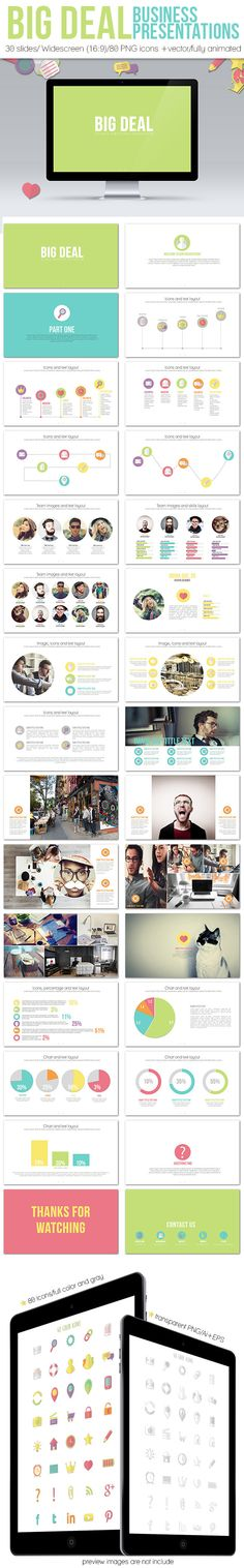 Responsive Business Presentation Tempalte Powerpoint Design