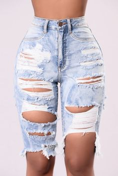 075fb6b705 Find Me In Paradise Shorts - Light Distressed High Waisted Shorts,  Distressed Bermuda Shorts,