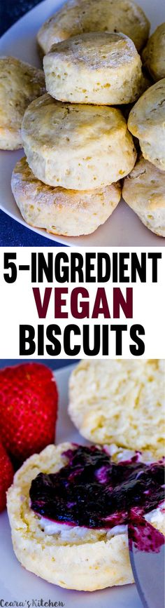 Tender, fluffy and buttery homemade #Vegan Biscuits!! Perfect for the holidays…