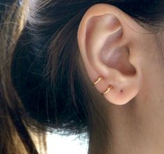 8mm Hoop Earring a gold and silver set would be cool!