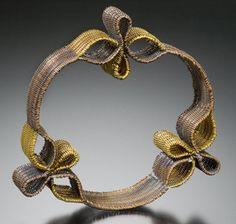 Bracelet    Anastasia Azure.  Monofilament, copper and brass.