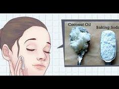 Rejuvenecer el rostro.Mascarilla Bicarbonato de sodio y aceite de Coco