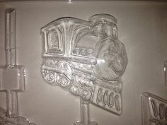 K73 Chocolate Lollipop Mold  Smiling Trains by LorisCandyStation, $2.50