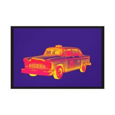 """""""Checkered Taxi Cab Pop Art"""" Graphic/Illustration by Keith Webber Jr posters, art prints, canvas prints, greeting cards or gallery prints. Find more Graphic/Illustration art prints and posters in t. Stretched Canvas Prints, Canvas Art Prints, Fine Art Prints, Modern Canvas Art, Taxi, Wall Prints, Graphic Illustration, Pop Art, Jr"""