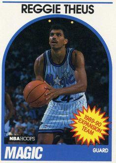 e5bcf1924b1 RARE 89 90 NBA HOOPS EXPANSION TEAM REGGIE THEUS ORLANDO MAGIC MINT Pro  Basketball