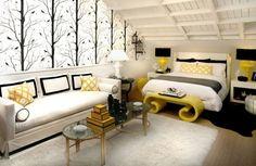 une chambre moderne sous le toit