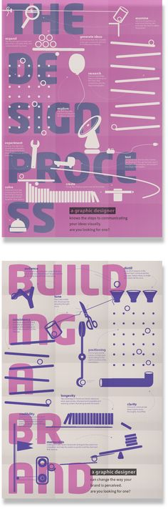 Rube Goldberg posters by Eden Toth, via Behance