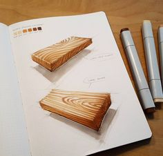Some wood copic samples from my sketchbook, any suggestions which wooden product I could render?