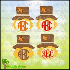 Scarecrow Monogram Base Design Print or Cut Instant Download Zip File Full Color SVG, EPS, DXF, High Quality 300 dpi Jpeg & Png formats - pinned by pin4etsy.com