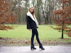 Shearling collar jacket - ASOS fashion blogger - FAB le Frique