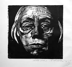 "Kathe Kollwitz ""Self Portrait"" 1923 Woodcut. Image size: This image is posted for educational purposes only. Return to Kollwitz gallery: [link] 'Self Portrait' woodcut 1923 Harlem Renaissance, Art Du Temps, Kathe Kollwitz, Illustration, Art Graphique, Wood Engraving, Art History, Printmaking, Street Art"