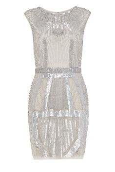 With geometric Art Deco influences and a relaxed silhouette that harks back to the Jazz era, this heavily embellished sequin and beaded dress has an opulent appeal. Specially created for Coast by LA designer Aidan Mattox, the Angelina Sparkle dress comes Silver Sequin Dress, Metallic Dress, White Mini Dress, White Maxi Dresses, Sparkly Dresses, Short Dresses, Bohemian Bridesmaid, Bridesmaid Dresses, Asos Bridesmaid