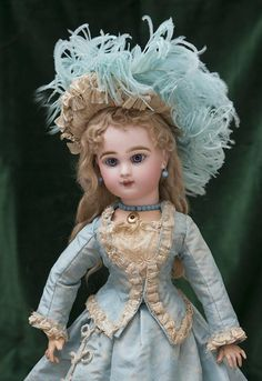 """19"""" (48 cm.) Rare Antique French Bisque Closed Mouth Bebe Jumeau Doll from respectfulbear on Ruby Lane"""