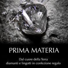 Prima Materia - Oro in lingotti e diamanti in blister Scopri le collezioni su https:/gioiellerialauria.itcportale.it/