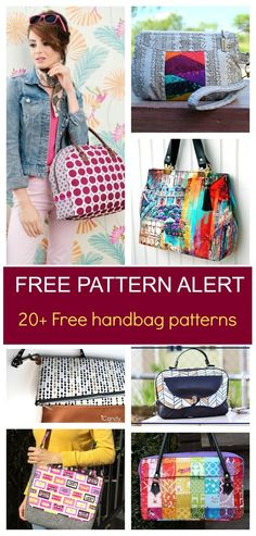 FREE PATTERN ALERT: 20+ Handbag sewing patterns Get access to 20+ free sewing patterns and sewing tutorials. Click here to learn more