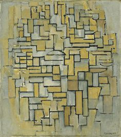 """Composition in Brown and Gray  Piet Mondrian (Dutch, 1872–1944)    1913. Oil on canvas, 33 3/4 x 29 3/4"""" (85.7 x 75.6 cm)"""