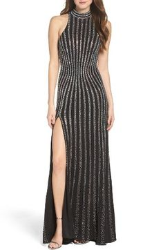 La Femme Embellished Jersey Gown by womens-dresses