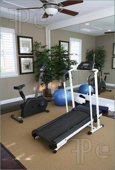 Image of An exercise room inside a residential home