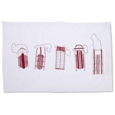 Wood Sleds Kitchen Towel | Sur La Table